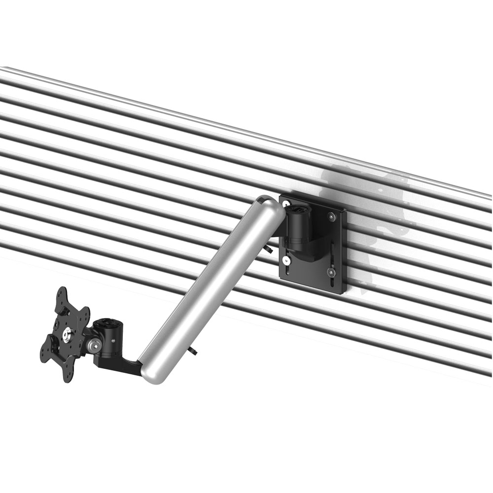VESA Mount for Slatwall w/ Quick Release Spring Arm