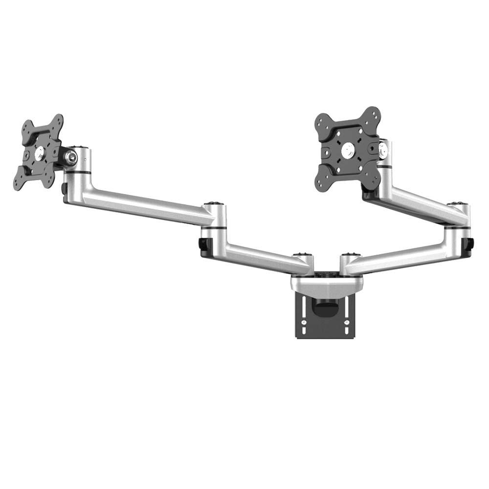 Dual Vesa Mount For Slatwall W Dual Arm Heavy Duty