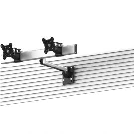 Dual VESA Mount for Slatwall Side by Side Quick Release w/ Extension
