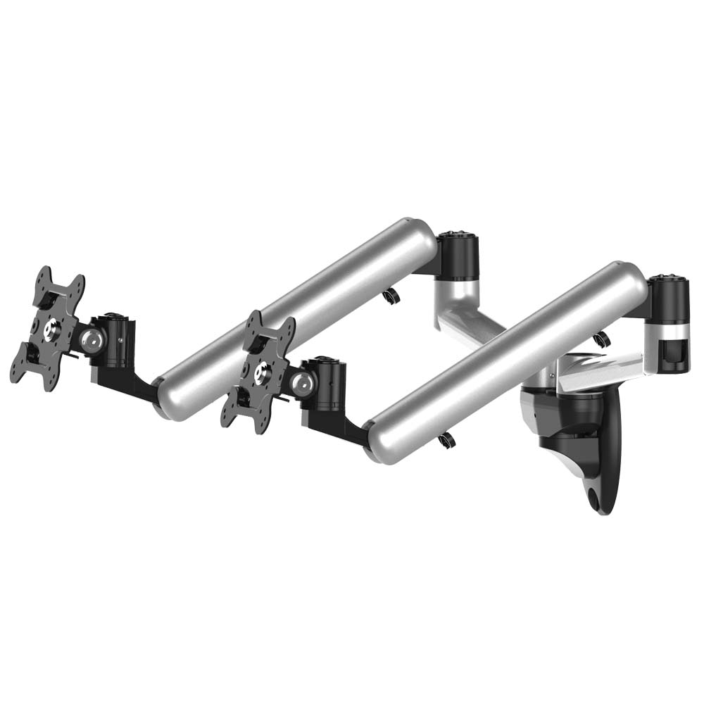 Dual Monitor Wall Mount W Spring Arms Bl W199