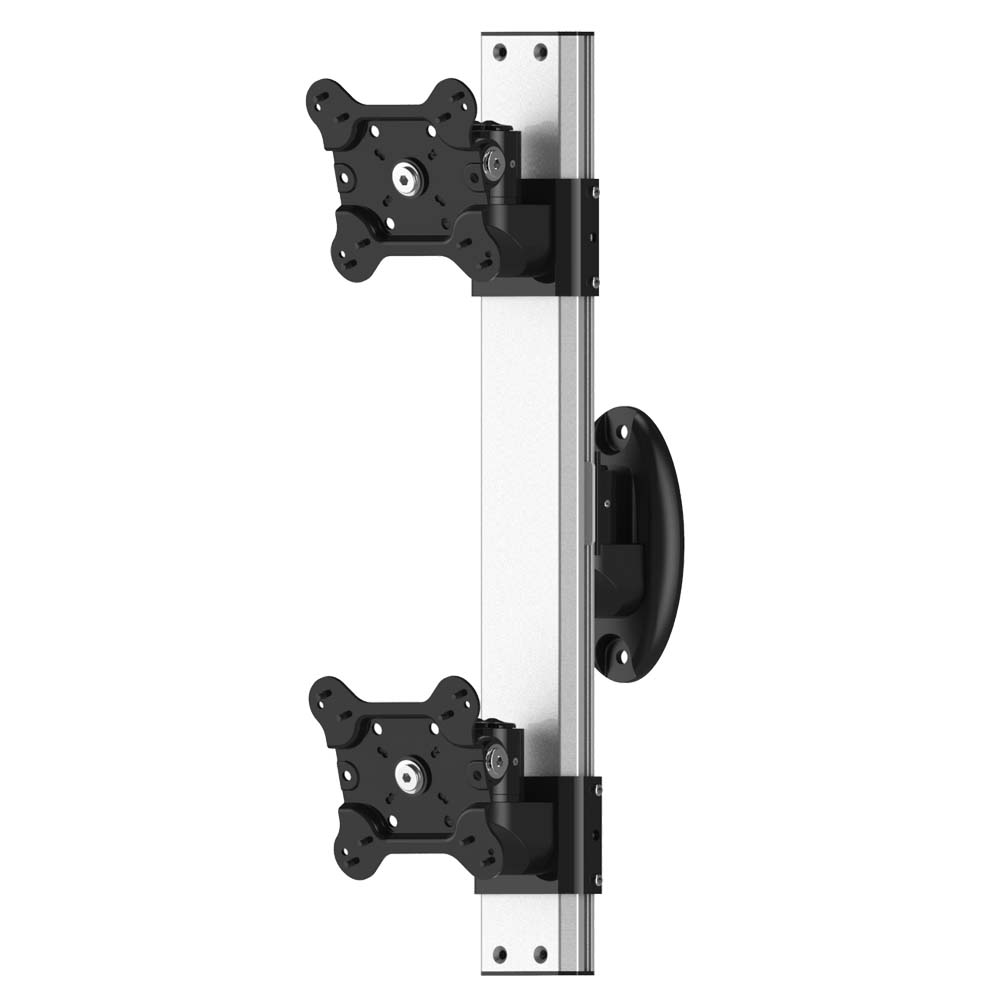 Dual Vesa Wall Mount Top Down W Quick Release Amp Low Profile