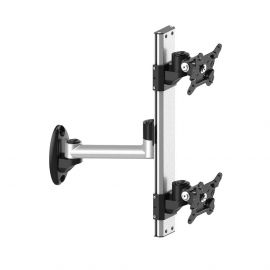 Dual VESA Wall Mount Top-Down w/ Quick Release & Single Arm