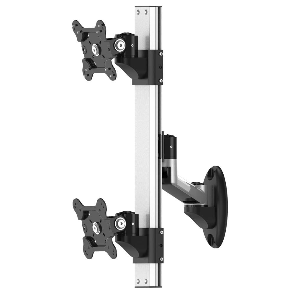Dual Vesa Wall Mount Top Down W Quick Release Amp Single Arm