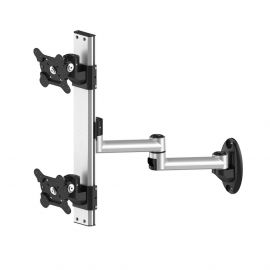 Dual VESA Wall Mount Top-Down w/ Quick Release & Dual Arm