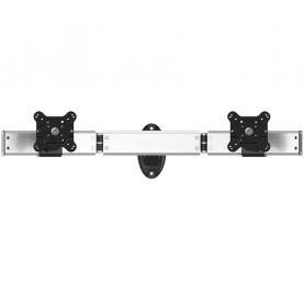 Dual VESA Wall Mount Side by Side Oval or Straight w/ Quick Release