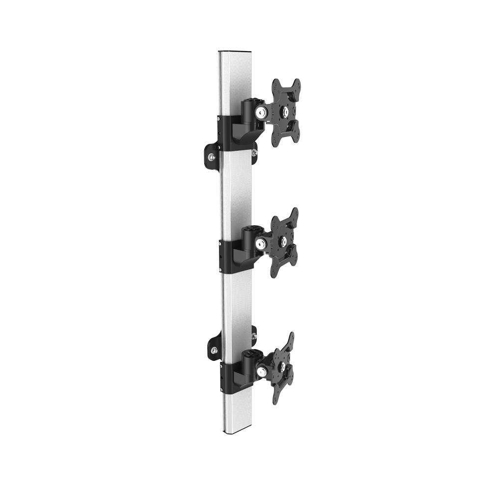 Triple Monitor Wall Mount Stacking w/ Quick Release & Low Profile