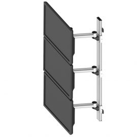 Triple Monitor Wall Mount Stacking w/ Quick Release & Single Arms
