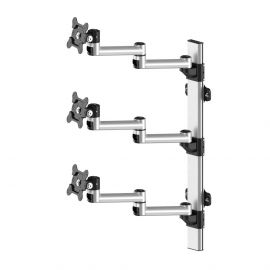 Triple Monitor Wall Mount Stacking w/ Quick Release & Dual Arms