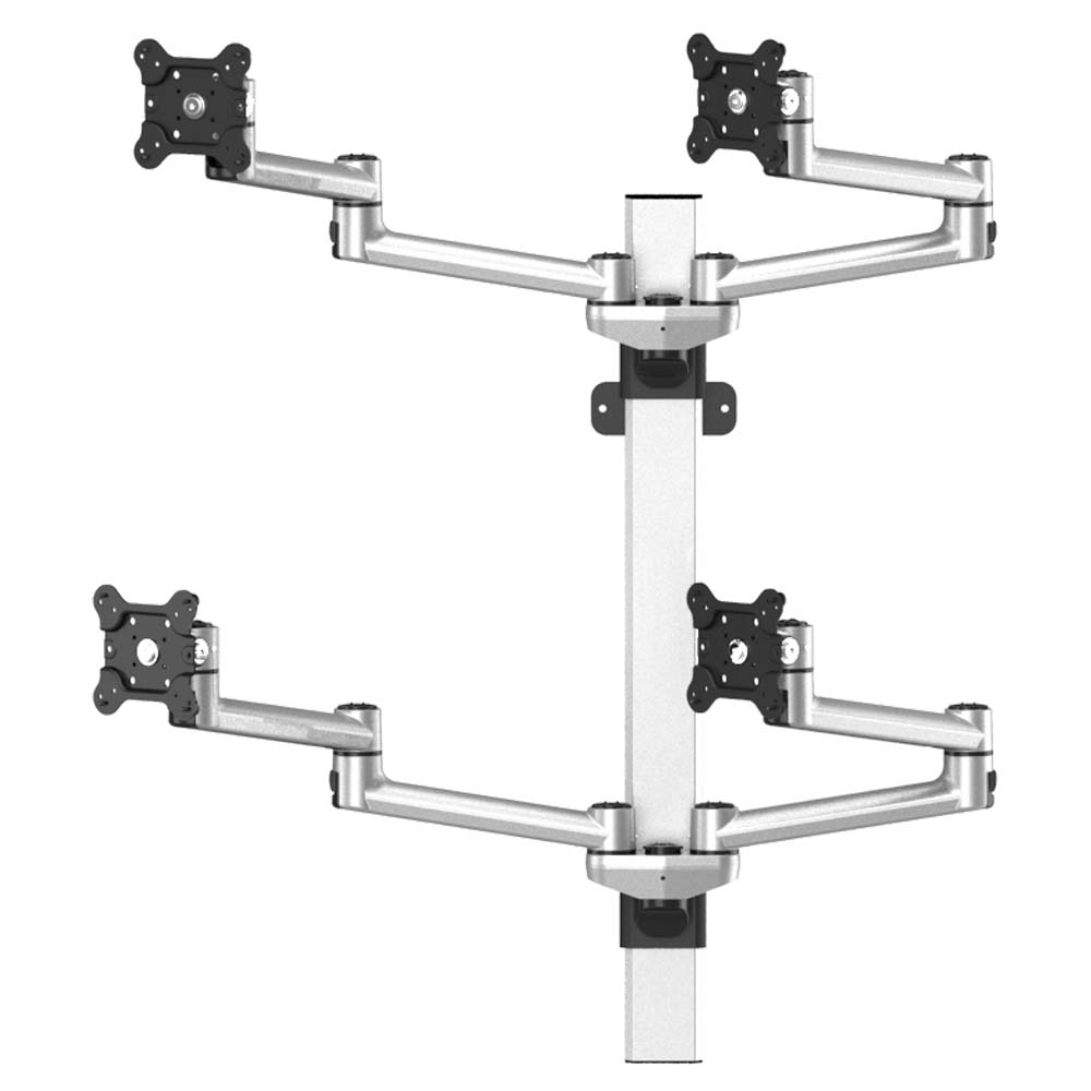 Vesa Wall Mount For 4 Monitors 2x2 W Quick Release Amp Dual