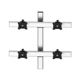 VESA Wall Mount for 4 Monitors 2x2 Low Profile w/ Quick Release