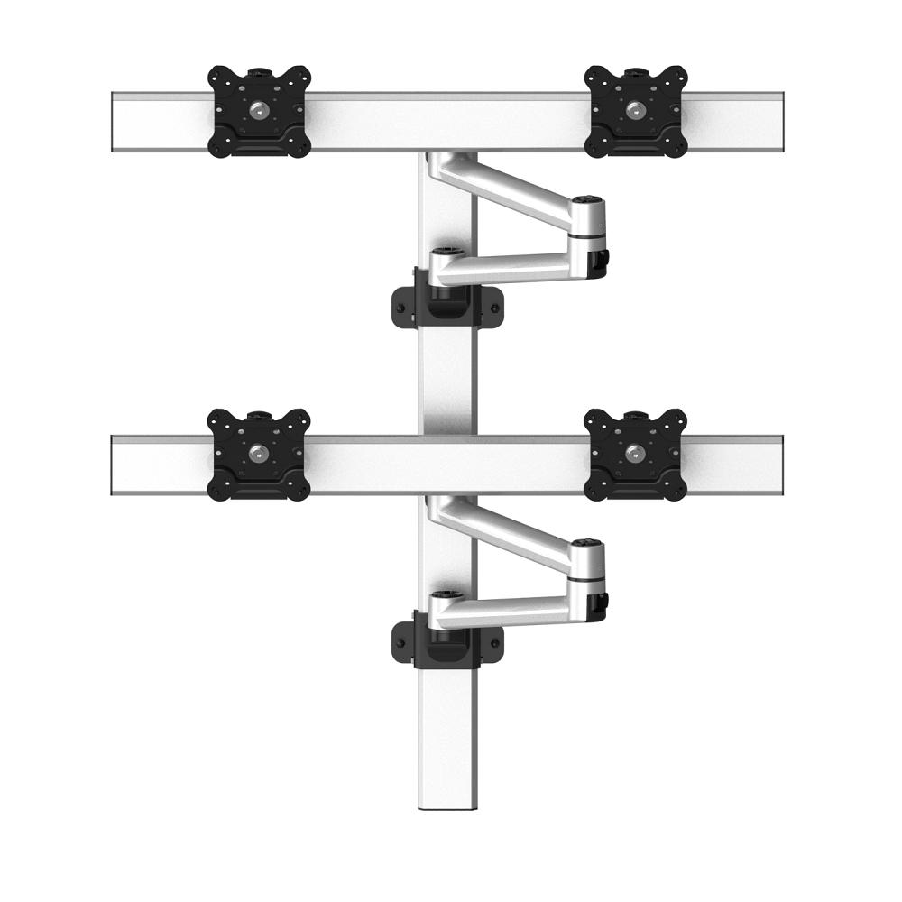 VESA Wall Mount for 4 Monitors 2x2 w/ Quick Release