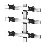 VESA Wall Mount for 6 Monitors 2x3 Low Profile w/ Quick Release