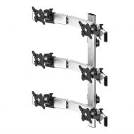 VESA Wall Mount for 6 Monitors 2x3 Quick Release Oval or Straight