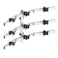 9 Monitor Mount for Wall 3X3 Low Profile w/ Quick Release