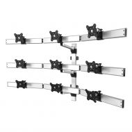 9 Monitor Mount for Wall 3X3 Low Profile w/ Quick Release Single Arms