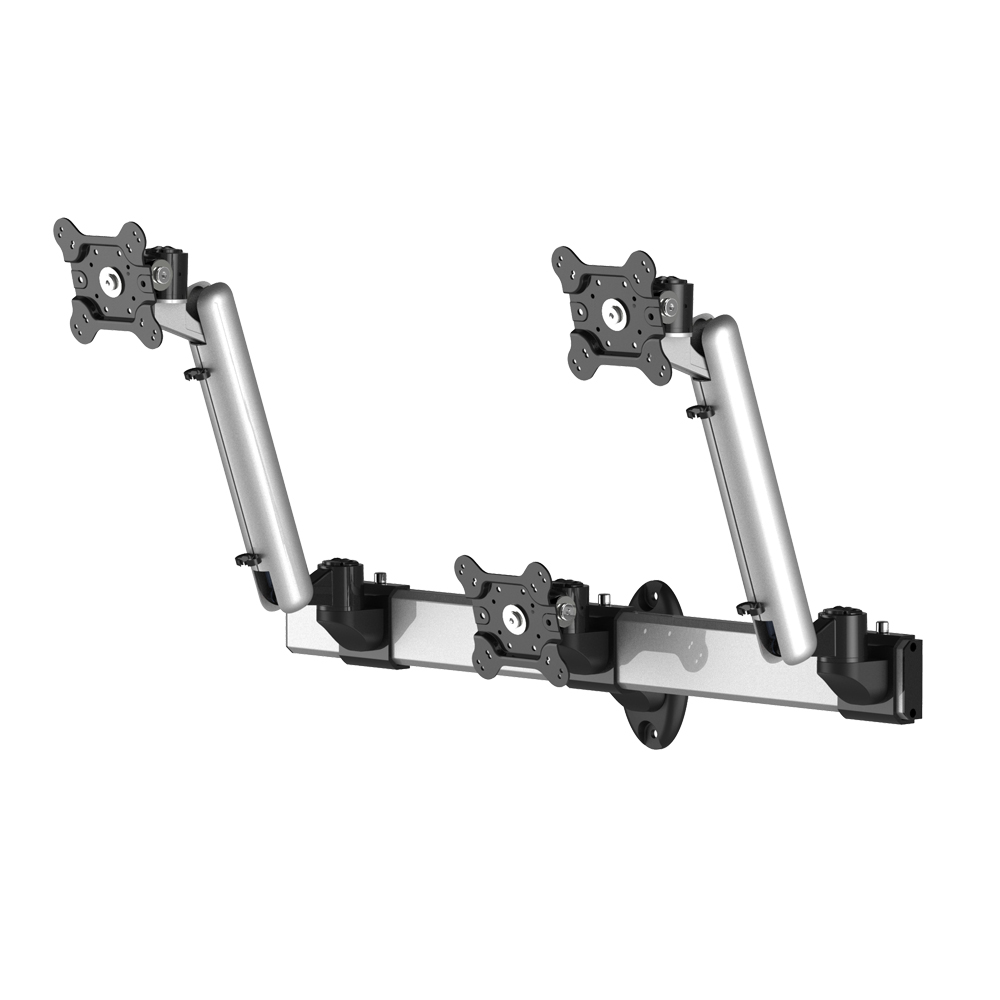 618a931148b2 3 Monitor Wall Mount Low Profile w  Spring Arm Quick Release