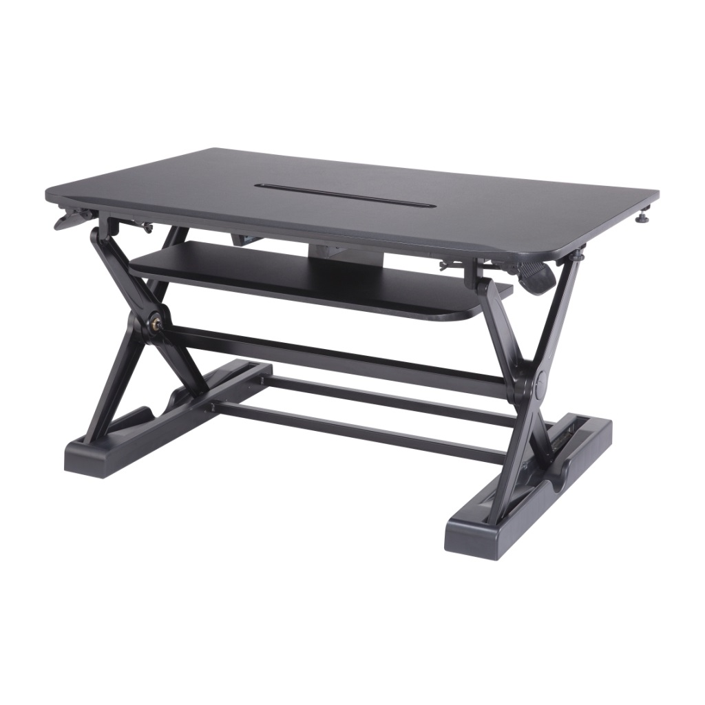 Sit Stand Desk Converter Dynamically Height Adjustable