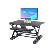 Sit-Stand Desk Converter - Dynamically Height Adjustable Black