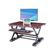 Sit-Stand Desk Converter - Dynamically Height Adjustable Wood Color