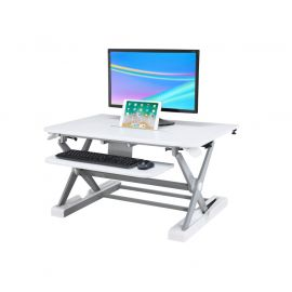 Sit-Stand Desk Converter - Dynamically Height Adjustable White