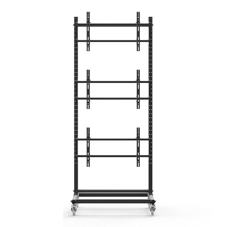46 To 60 Quot 1x3 Video Wall Mount W Wheels Expandable
