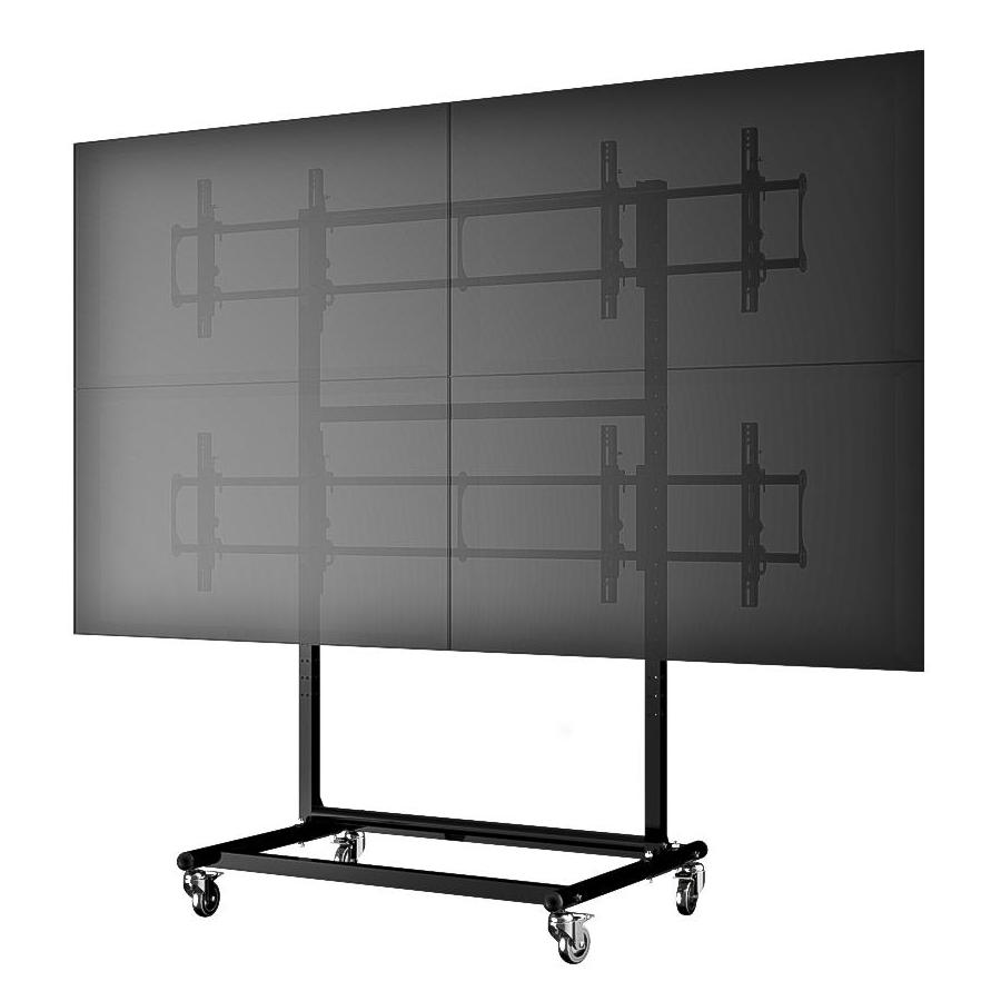 Mobile Video Wall Cart Stand For 46 Quot 60 Quot 2x2