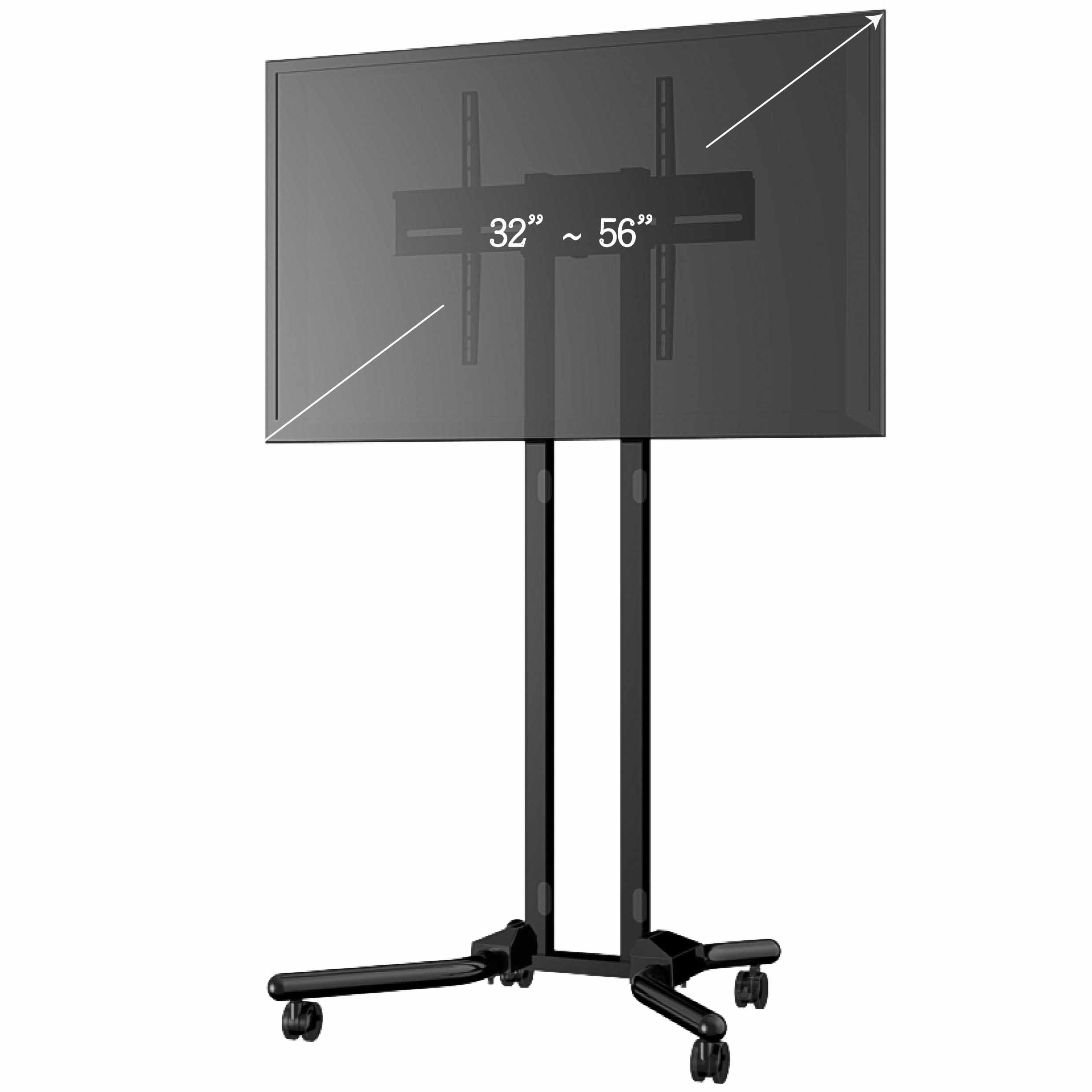 Tv Av Carts Tv Stands With Mounts Flat Screen Cart