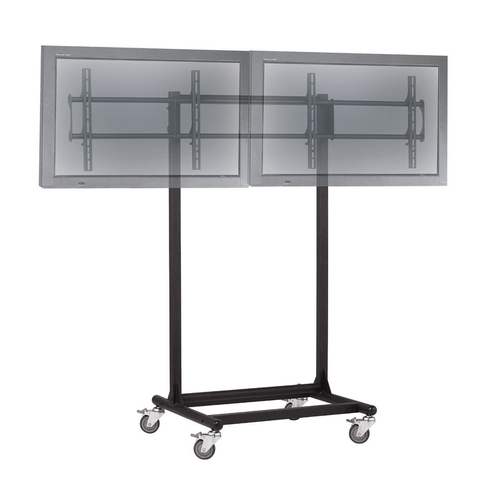 "32 to 46"" Dual TV Cart - Adjustable, Mobile & Ergonomic"
