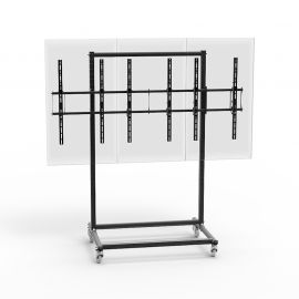 "46 to 55"" 3X1 Video Wall Mount w/ Wheels - Micro Adjustable"
