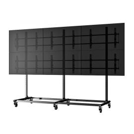 "Micro-Adjustable Video Wall Cart/Stand For 46"" (3x2)"
