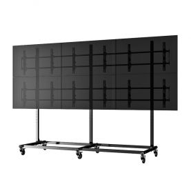 "55"" 3X2 Video Wall Mount w/ Wheels - Micro Adjustable"