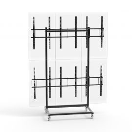"32 to 56"" 3X2 Video Wall Mount w/ Wheels - Micro Adjustable"