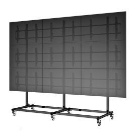 "46"" 3X3 Video Wall Mount w/ Wheels - Micro Adjustable"