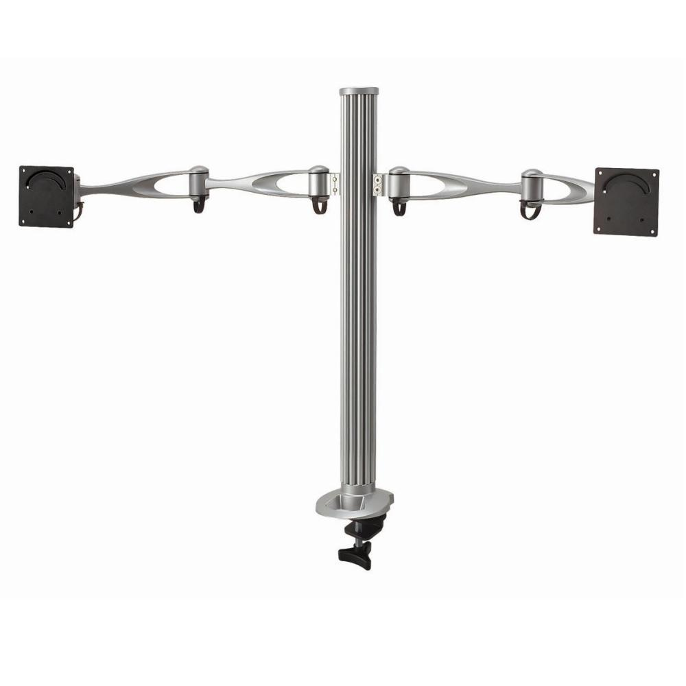Dual Monitor Desktop Mount W Full Swing Arms