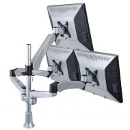 Triple Monitor Desk Mount w/ Spring Arm & Quick Release