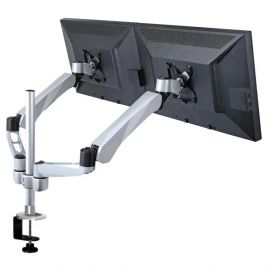 Dual Monitor Stand w/ Spring Arm & Quick Connect