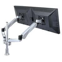 Dual Monitor Stand w/ Spring Arm & Quick Release