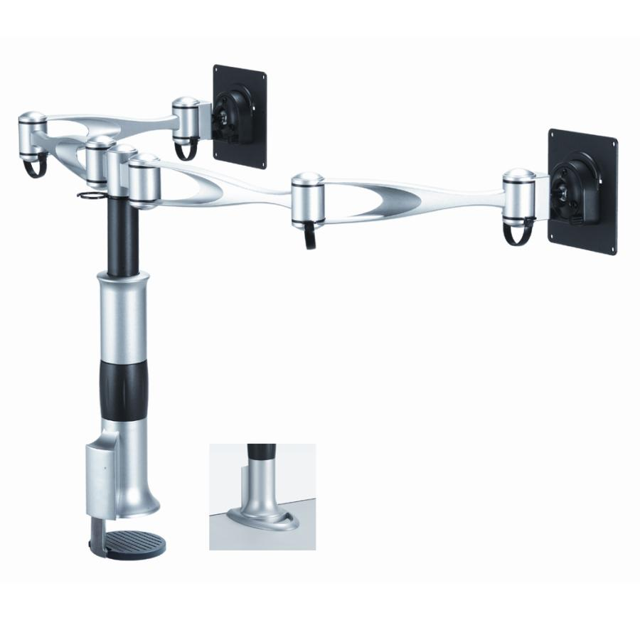 Dual Monitor Desk Mount Dual Swing Arm Dm D1a2