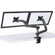 Dual Monitor Stand w/ Spring Arms Dark Gray