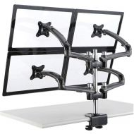 Quad Monitor Stand 2X2 w/ Spring Arms Dark Gray