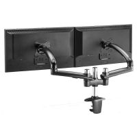 Dual Monitor Stand - Expandable w/ Spring Arms Dark Gray