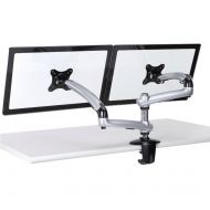 Dual Monitor Stand w/ Spring Arms Silver