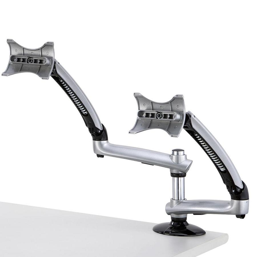 Dual Monitor Desk Mount for Apple w/ Spring Arm DM-GSDA