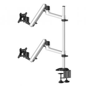 Dual Monitor Stand Side by Side or Up & Down Full Motion