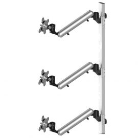 Triple Monitor Wall Mount for Apple Height Adjustable w/ Quick Release