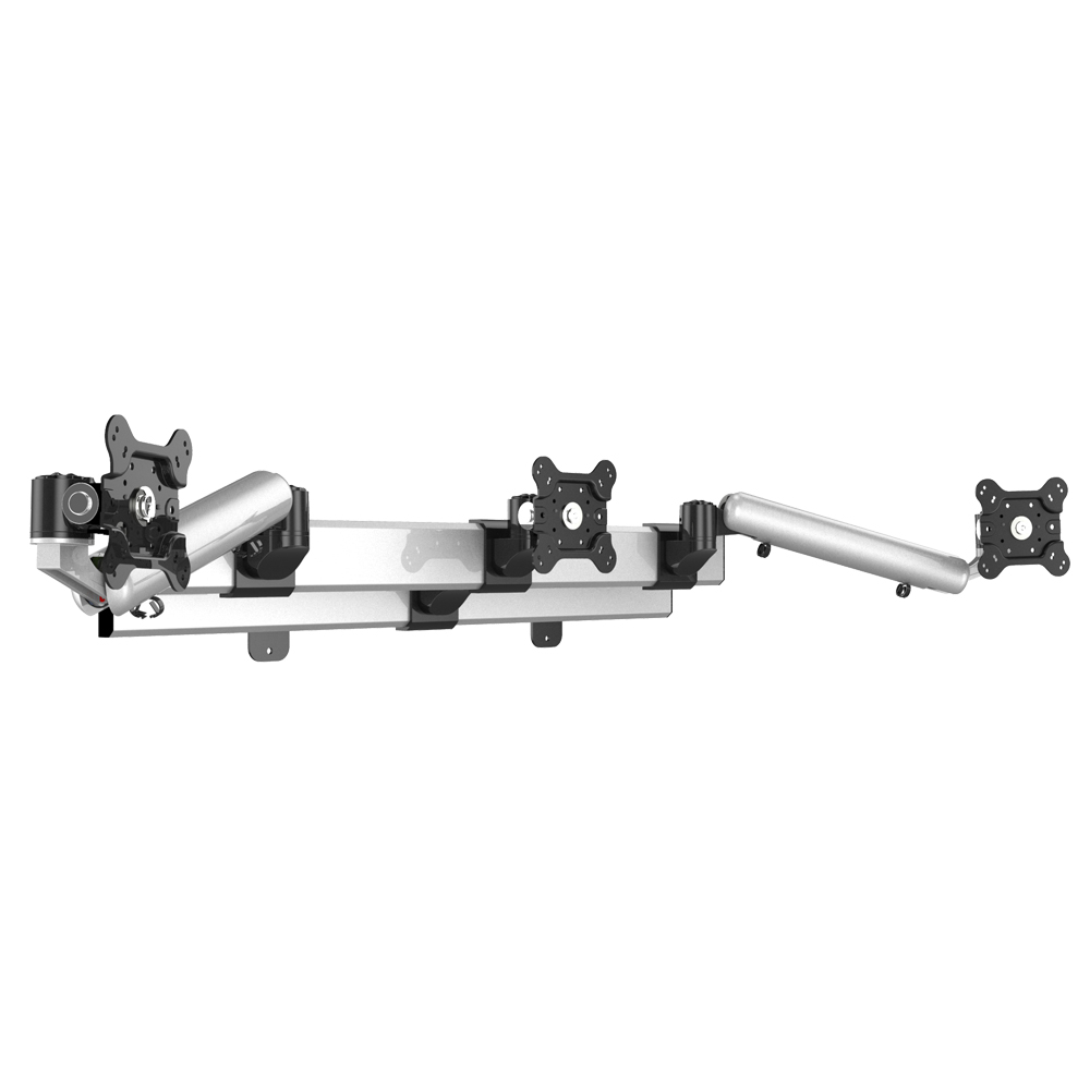Triple Monitor Wall Mount w/ Independent Full Motion & Quick Release
