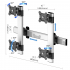 VESA Wall Mount for 4 Monitors 2x2 Quick Release Two Orientations