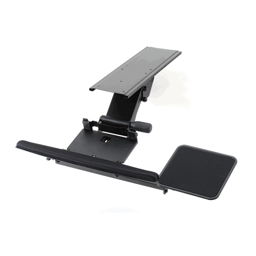 keyboard tray fully adjustable w clamp u0026 spring - Keyboard Tray
