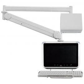Monitor Arm - Long Reach w/ Keyboard Holder MW-M23WBKN