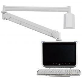 Monitor Arm - Long Reach w/ Keyboard Holder MW-M25PKN